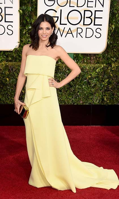 Another star to stun in yellow was Jena-Dewan Tatum, whose buttercream-coloured Carolina Herrera dress perfectly complemented her olive complexion. 
