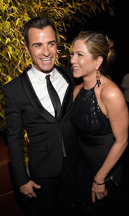 Justin Theroux and Jennifer Aniston Photo: © Getty Images