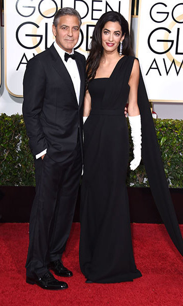 Amal and George Clooney at the 2015 Golden Globes. Photo: © Getty Images