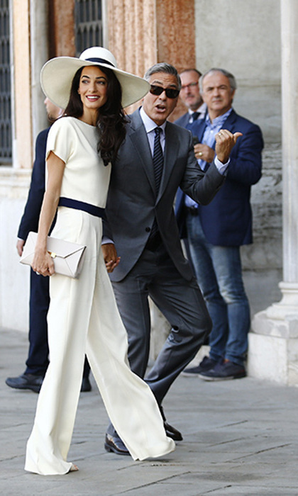 Amal Clooney in Venice during the celebrations for her and George's wedding. Photo: © Getty Images
