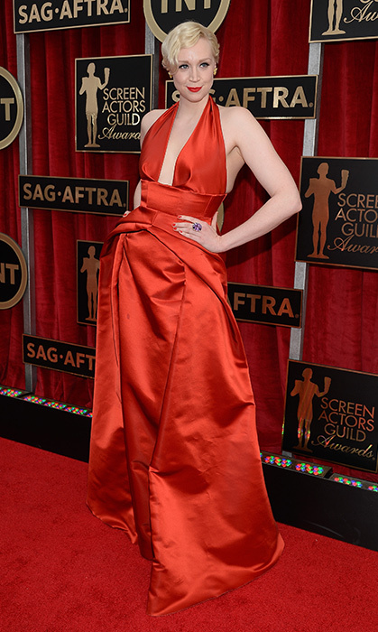 Gwendoline Christie in Giles.