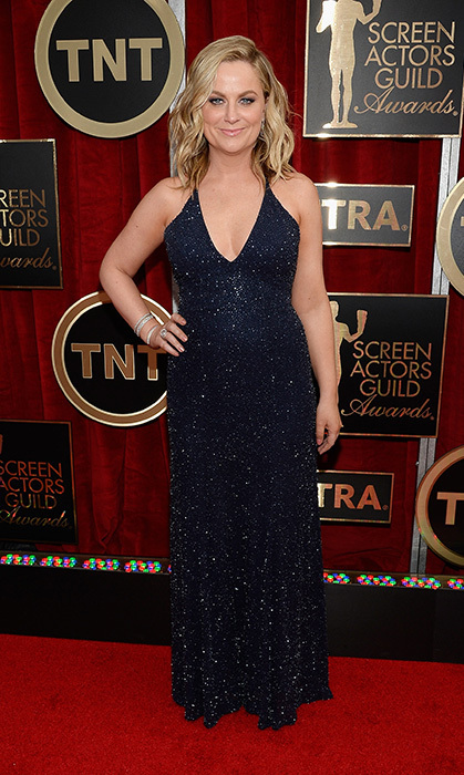 Amy Poehler in Jenny Packham.