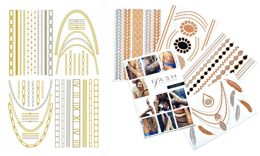Flash Tattoos in Dakota, Josephine and Zahara, $26 each, Sephora