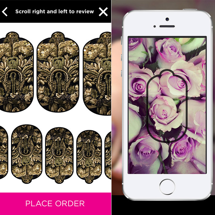 L.A.-based nail brand NCLA's newest app lets you turn your favourite photo into an easy-to-apply nail wrap. Preserve a bouquet of roses (seen on the company's website) or print fabric swatches to complement your outfit of the day! The app also adds design elements, like orbit stripes or half-moons, to your appliqué in case you're looking to be more artistic.The myNCLA app is available for free on iTunes. One set of personalized wraps is US$19, plus shipping.