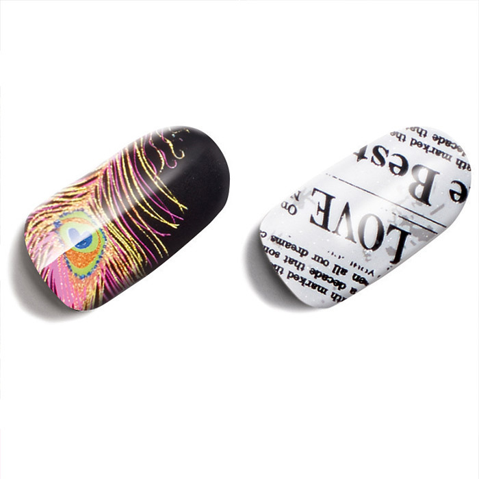 Avon Nail Art design strips in Birds of a Feather and Newsy Newsy, $10 for 18 strips, avon.ca