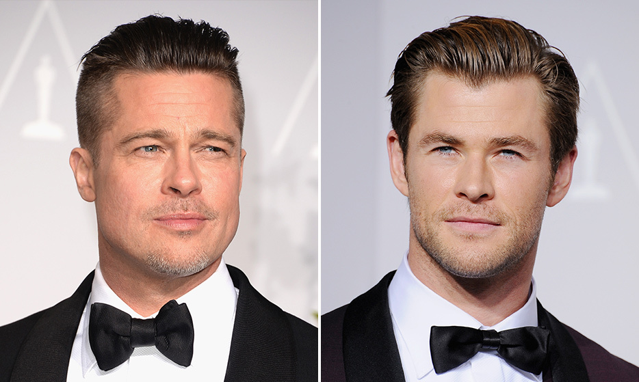 Heartthrobs Brad Pitt and Chris Hemsworth look like brothers who were separated at birth!