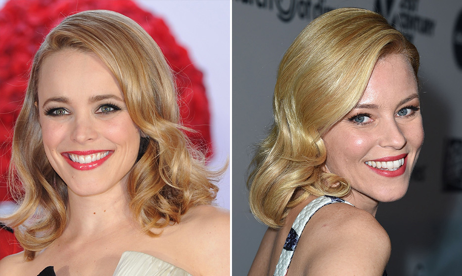 Canadian sweetheart Rachel McAdams and American actress Elizabeth Banks have the same blue eyes, dazzling smiles and shiny blond hair (when hair-chameleon Rachel is blond, that is!).