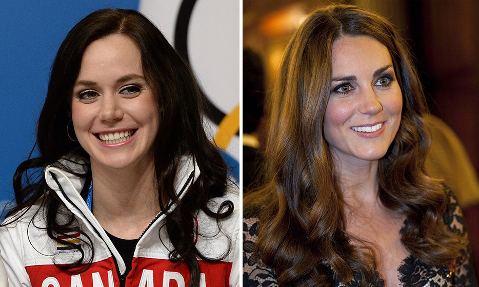 With her shiny brown tresses and cute button nose, it's been said that Canadian figure skater Tessa Virtue bears an uncanny resemblance to the Duchess of Cambridge.