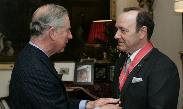 Kevin Spacey was awarded an honorary CBE (Commander of the British Empire) medal for services to drama by Prince Charles in 2010.