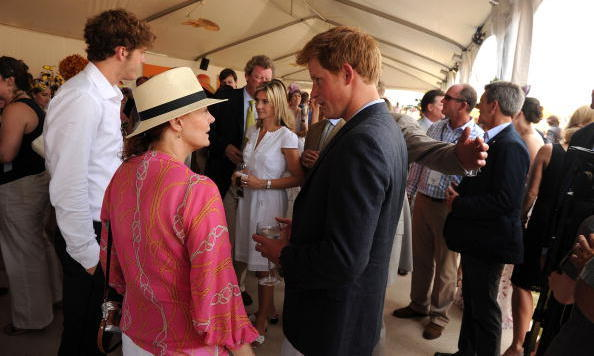 Susan Sarandon tried to appear nonchalant while meeting Prince Harry at New York City's Veuve Clicquot Polo Classic in June 2010.
