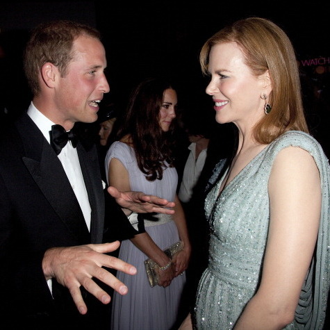 During William and Kate's Los Angeles visit in 2011, Nicole Kidman was able to meet the couple at the BAFTA party.