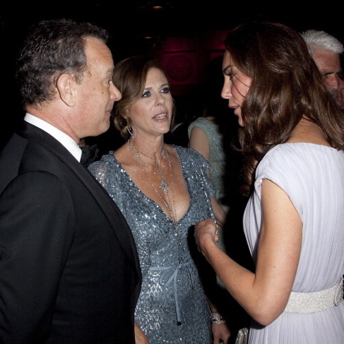 Tom Hanks and wife Rita Wilson looked enamored as well while speaking with Kate in 2011 at the BAFTA Brits to Watch event.