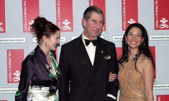 Charles' angels? Drew Barrymore and Lucy Liu posed with the Prince at the premiere of Charlie's Angels in London in 2000.