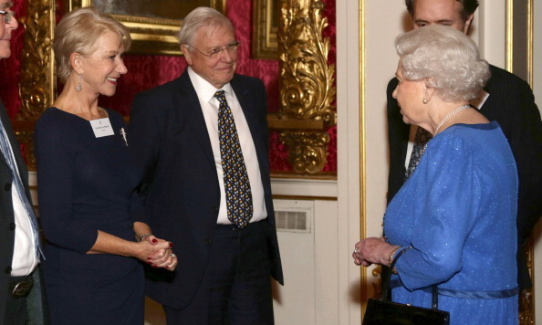 "Dame Helen Mirren visibly braced herself to exchange warm pleasantries with Queen Elizabeth, whom she famously channeled in an Oscar-winning role for the 2006 biopic ""The Queen.""