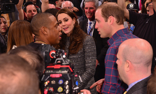 They're not easily impressed, but Jay Z and Beyonce appeared star-struck in the presence of William and Kate when the couple attended a Brooklyn Nets - Cleveland Cavaliers game in December 2014.