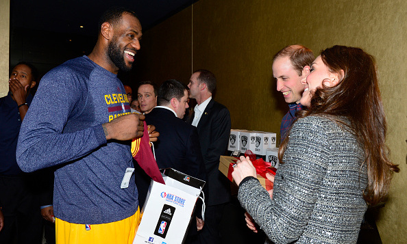 Lebron James seemed genuinely stoked for his December 8, 2014 photo-op with William and Kate at Brooklyn's Barclays Center.