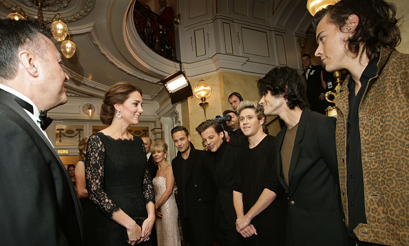 The boys of One Direction were on their best behavior to meet Kate Middleton at The Royal Variety Performance at the London Palladium in November 2014.