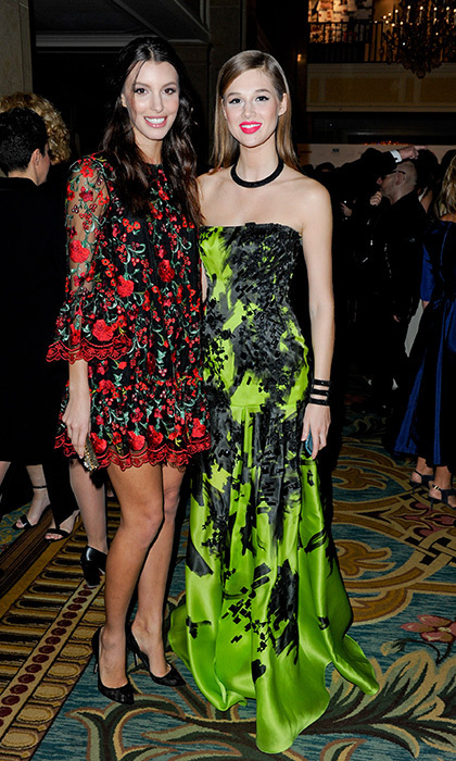 Kate King and Model of the Year winner Anaïs Pouliot in Lucian Matis.
