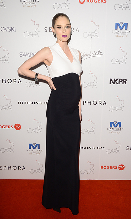 2014 Model of the Year (and mom-to-be!) Coco Rocha in Greta Constantine.
