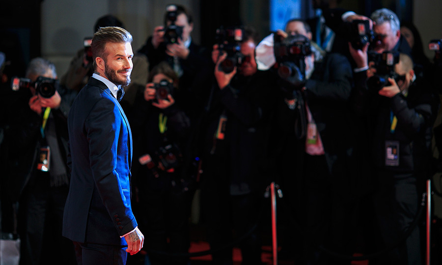 "David Beckham made his first appearance at the BAFTA awards on Sunday. The father-of-four said that he was very excited to be around ""such talented people"" and revealed that his children love the Paddington movie.