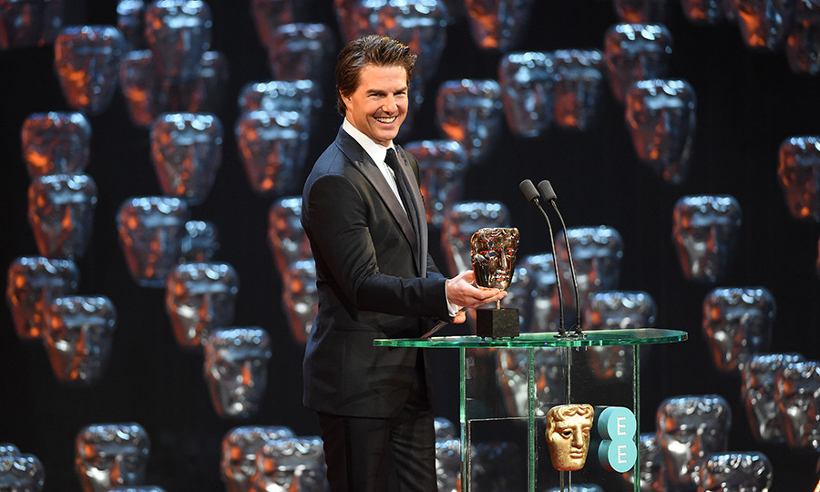 Tom Cruise was a surprise guest and presented Boyhood with the award for Best Film. The actor is currently in the UK to film the latest Mission Impossible movie.