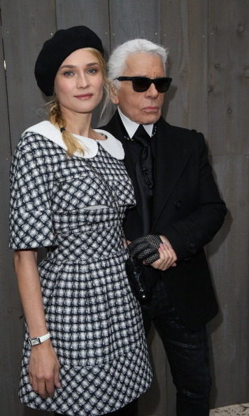 Diane Kruger & Karl Lagerfeld