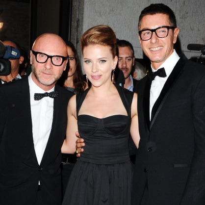 Scarlett Johansson & Domenico Dolce and Stefano Gabbana