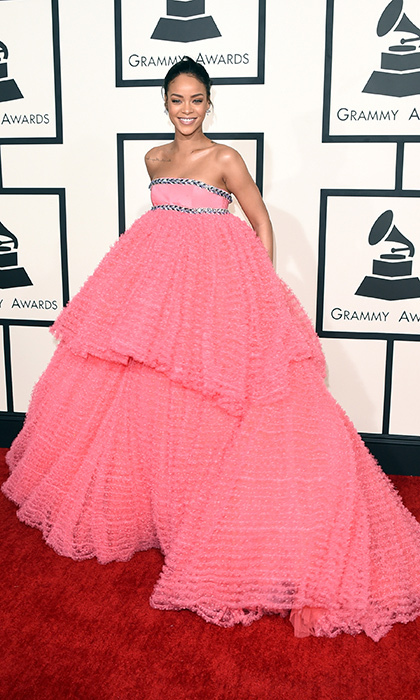 Rihanna's frothy Giambattista Valli number was the talk of the town following the GRAMMY Awards, and the songstress (as usual) pulled off the runway look without a hitch.