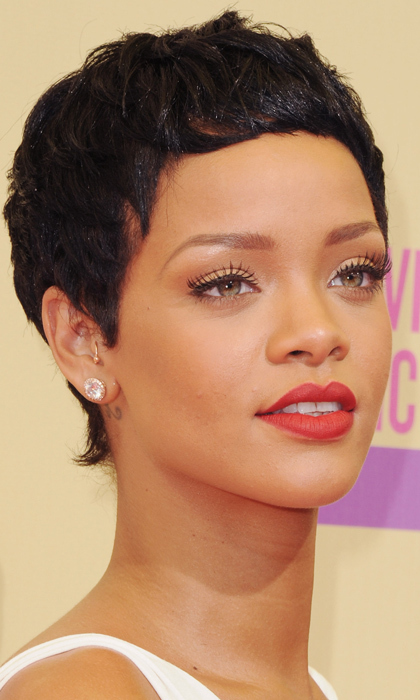 Hair today, gone tomorrow! The singer showed off her pixie cut at the 2012 MTV Video Music Awards. 