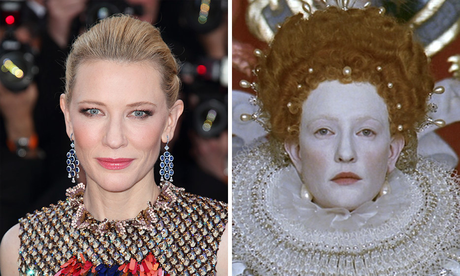 Cate Blanchett completely transformed for her role as the matriarch in Elizabeth by bleaching her eyelashes and eyebrows. She also wore ornate wigs and headdresses along with her elaborate Victorian costumes. Unsurprisingly the film won Best Makeup at the Oscars and a garnered Best Actress nod for Cate. 