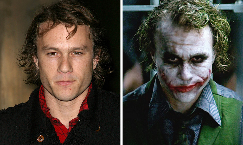 "Handsome Heath Ledger won praise and a posthumous Oscar for his portrayal of the psychopathic Joker in 'The Dark Knight.' While his ""clown"" mask – made up of three pieces of stamped silicone and messily applied makeup – helped him transform into the terrifying character, it actually all took less than one hour to apply.