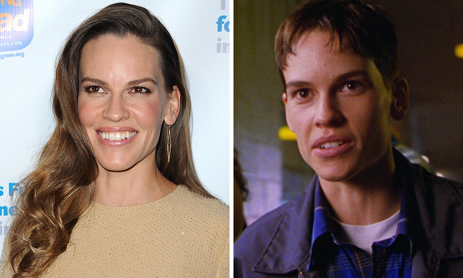 Hilary Swank swapped genders and won the Oscar for Best Actress for her role in 'Boys Don't Cry,' in which she plays a trans man.