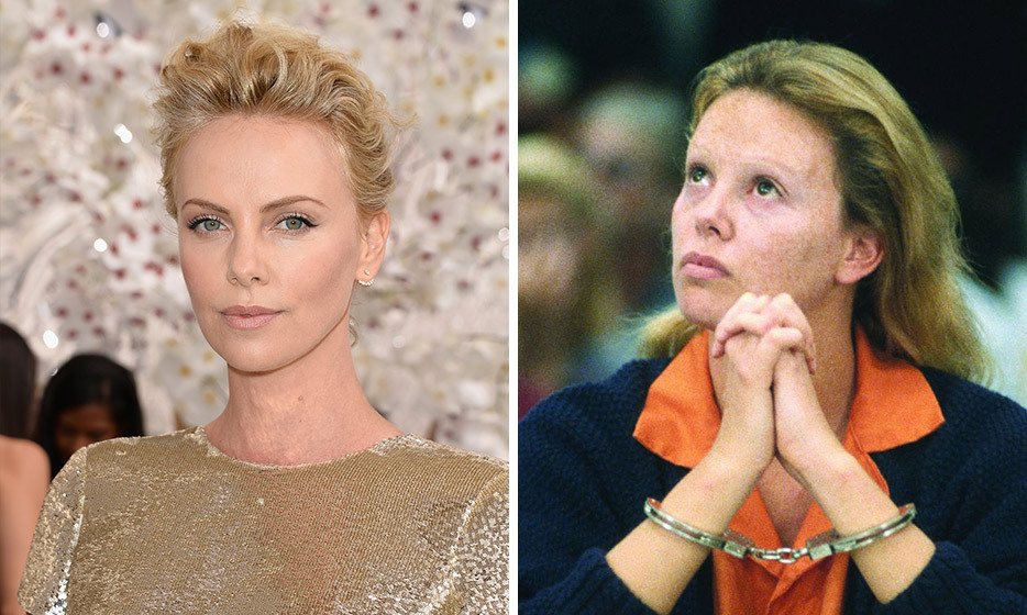 To portray prostitute-turned-serial-killer Aileen Wuornos in Monster, Charlize Theron underwent an incredible make-under that left her unrecognizable, gaining 30 pounds and wearing prosthetic dentures, contact lenses and makeup.  