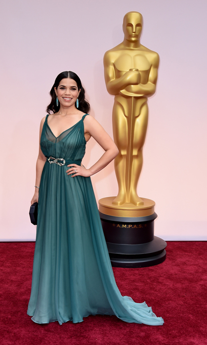 America Ferrera in Jenny Packham. Photo: Getty