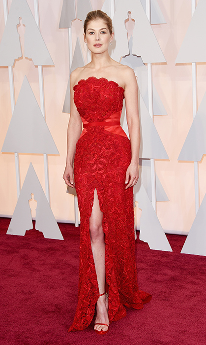 Rosamund Pike in Givenchy. Photo: Getty
