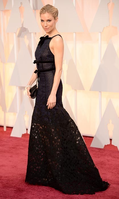 Sienna Miller in Oscar de la Renta. Photo: Getty