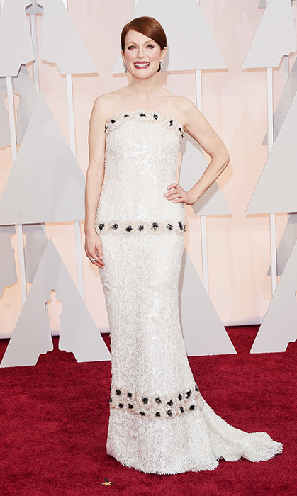 Julianne Moore in custom Chanel. Photo: Getty