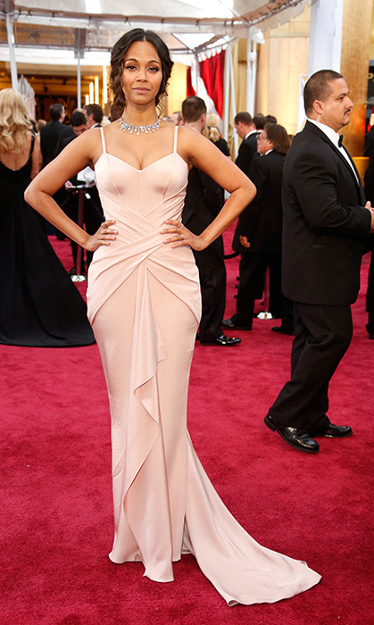 Zoe Saldana in Atelier Versace. Photo: Getty