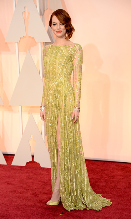 Emma Stone in Elie Saab. Photo: Getty