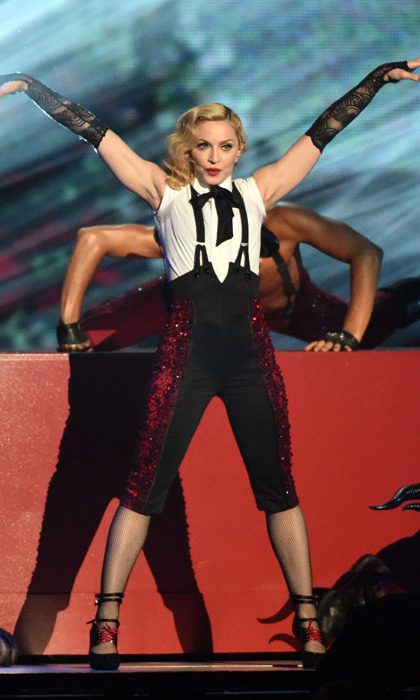 Madonna says she's 'fine' after falling onstage at the ...