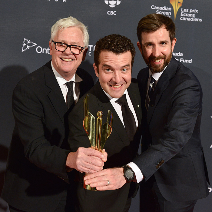 Gerald Lunz, Rick Mercer and Tom Stanley