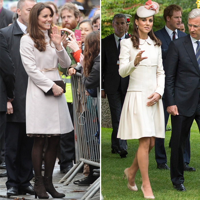 668aa0195a5 The Duchess of Cambridge s pregnancy style by trimester  Then and ...