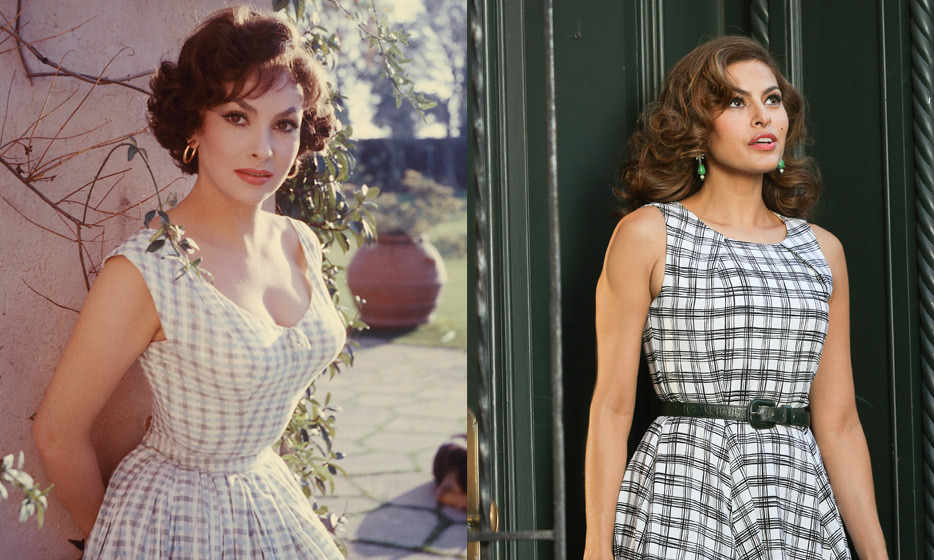 It's no surprise to see Eva, here shooing a commercial for her clothing line, channel the beauty of Gina Lollobrigida.  The stunning Italian actress played Esmeralda in 1956's 'The Hunchback of Notre Dame.'