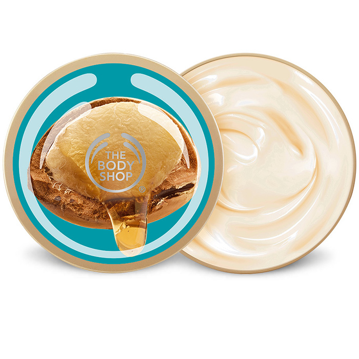 Smooth a rich butter onto your body immediately after bathing to lock in hydration. The Body Shop Wild Argan Oil Body Butter, $20.