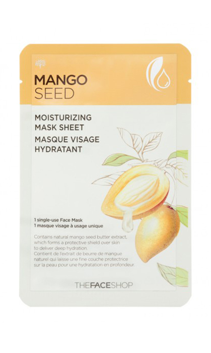 While binge watching 'Jane The Virgin' on Shomi, treat your face to a dose of moisture (thanks to mango seed, which has moisture-retaining powers that can survive some 300 years in harsh desert climates). THEFACESHOP Mango Seed Moisturizing Mask Sheet, $4.​