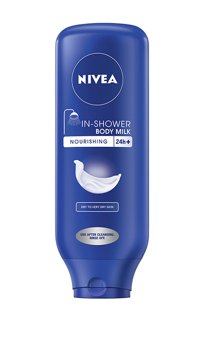 Hectic schedules can leave little time for applying moisturizer. Problem solved with this in-shower body milk. Nivea In-Shower Body Milk, $7.99.