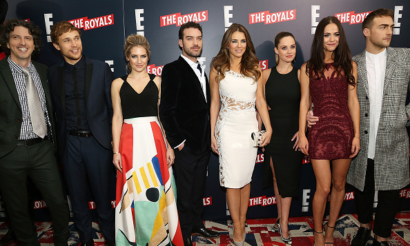 Writer, director and producer Mark Schwahn with actors William Moseley, Sophie Colquhoun, Jake Maskall, Elizabeth Hurley, Merritt Patterson, Alexandra Park and Tom Austen