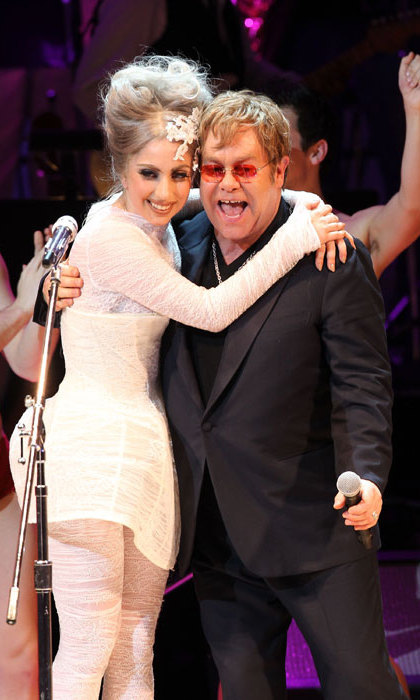 "Elton John and David Furnish confirmed that Gaga was their top choice for their son in an interview with Barbara Walters, saying, ""When you get to the real person under there, there's a real simple person under there who loves her parents.""