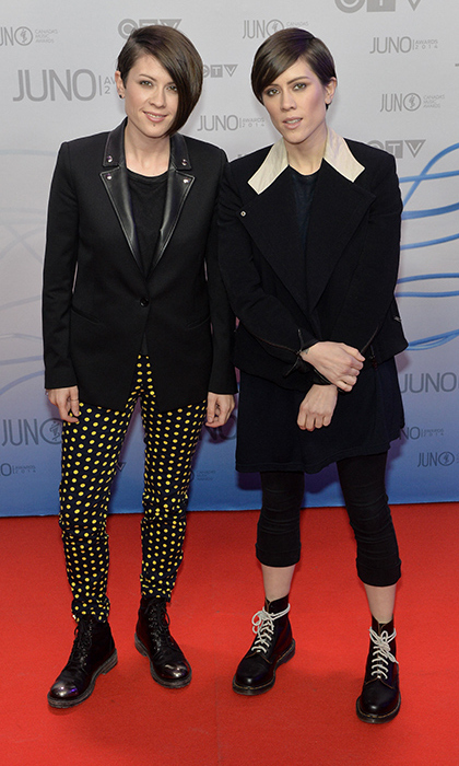 Back in 2014, identical twins Tegan and Sara had no idea that they'd be performing at the Oscars the following year! But one thing that's consistent for the Calgary-bred sisters is their style - edgy, often androgynous and mostly black. (Photo: Getty Images)