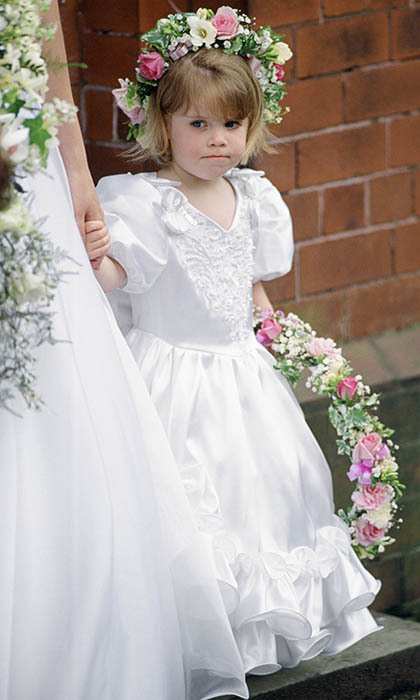 Eugenie made a very cute bridesmaid at the wedding of Alison Wardley, her former nanny.